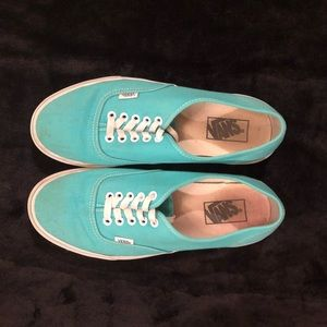 💙Teal/Turquoise Vans. Men's 8.5, Women's 10.